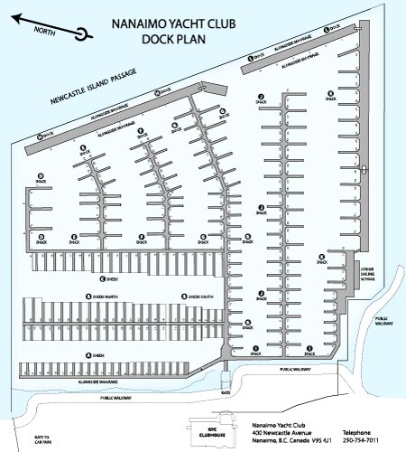 Nanaimo Yacht Club Dock Plan