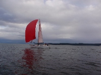 Fall Series 2012: Race Day 5: BIG Red Spinnaker on Ion