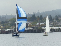 Jack & Jill Race 2014: Brigand II and Soul Time battling it out right to the finish line. (Photo courtesy of Blaine Bey)