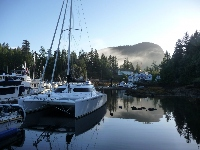 Single Handed Series 2012: September Weekender: Pender Harbour is great place to wait for better weather