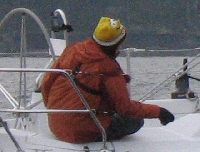 Single Handed Series 2013: February: Extra set of eyes aboard Cu na Mara during Single Handed Race.....Protest?