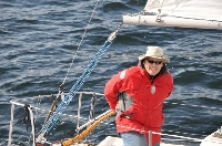 Spring Series 2014: Race Day 3: Somebody is happy to be sailing!